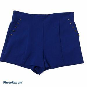 Forever 21 Blue High Rise Studded Pockets …